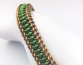 Persian Stripe Chainmaille Bracelet