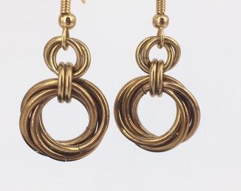Gradient Infinity Mobius Earrings