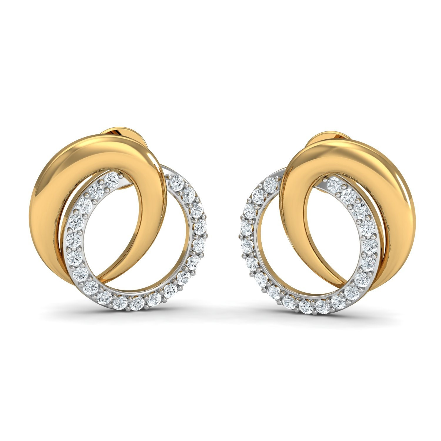 3c769d146 Attract The Person You Love 0.30ct Swarovski Zirconia Stud Post Gold  Earrings fits Women and Girls