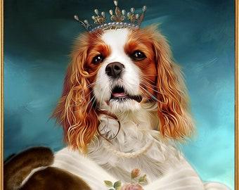 Medieval Pet Portrait Renaissance Pet Portraits & by JAnoveltyArt