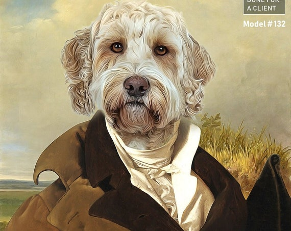 Mr. Darcy, Jane Austin Victorian Gentleman, 18th Century, High class society, Gift idea, Pet portrait, Personalized gift by JAnovelty