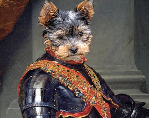 Your dog as King Charles III of Spain Personalized painting from photo | 17th Century Historical Costume | Personalized Christmas Gift