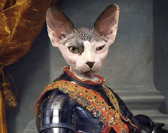 Charles III of Spain, Custom Pet Portraits, Dog or Cat Portrait, Digital personalized portrait painting, using your Pet's Photo