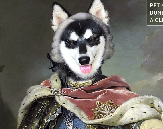Medieval Knight Custom Pet Portrait by JAnovelty