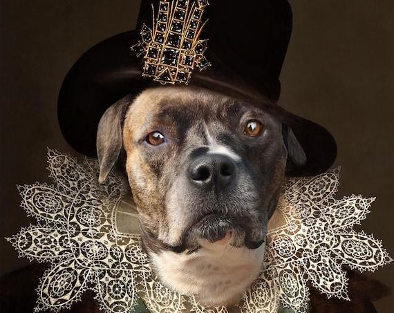 James I of England, Custom Pet Portraits, Royal pet portrait, Regal dog art, Renaissance pet portrait, Medieval pet portrait by JAnovelty