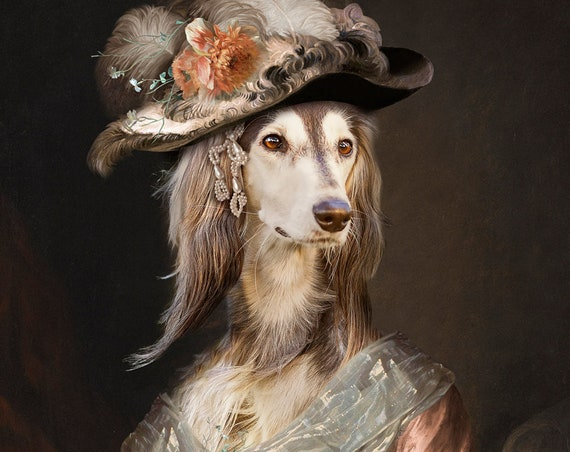 Victorian Lady, Princess, Queen, Personalized gift, Custom gift, Royal Pet, Regal pet portraits, Funny gift, Dog Portrait, by JAnovelty