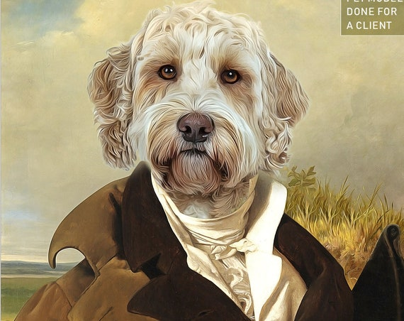 Mr. Darcy, Jane Austen Victorian Gentleman, 18th Century, High class society, Gift idea, Pet portrait, Personalized gift by JAnovelty