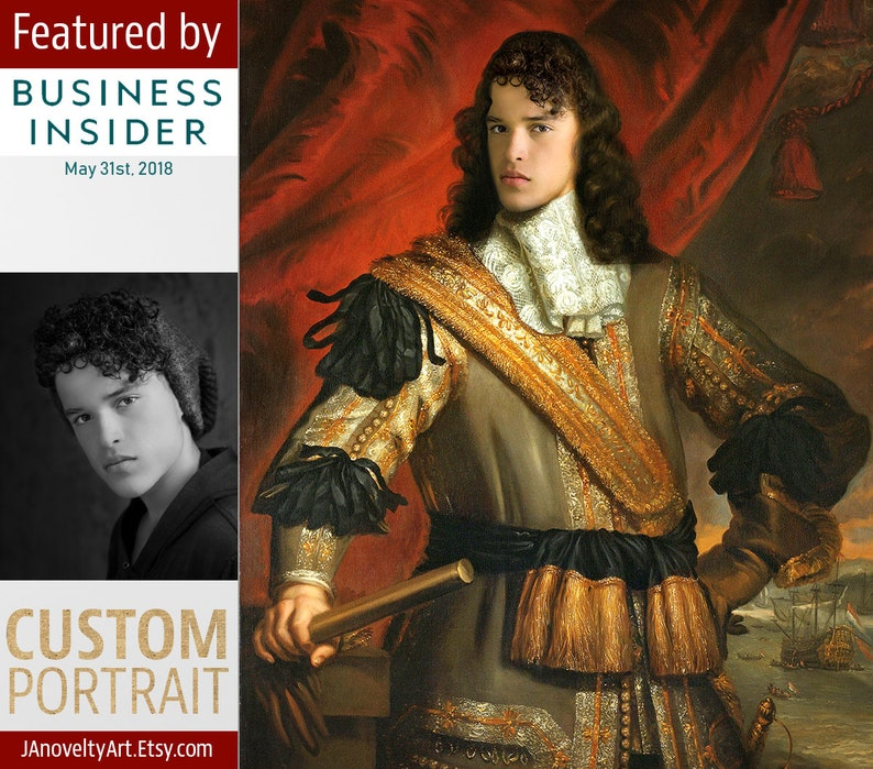 Royal portrait gift for men Father's day Classical image 0