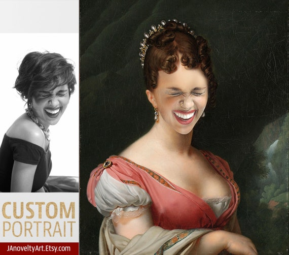 Woman, Romantic Victorian queen, Funny gift, Classical paint, Renaissance portraits, Medieval portraits, Victorian portraits by JAnovelty
