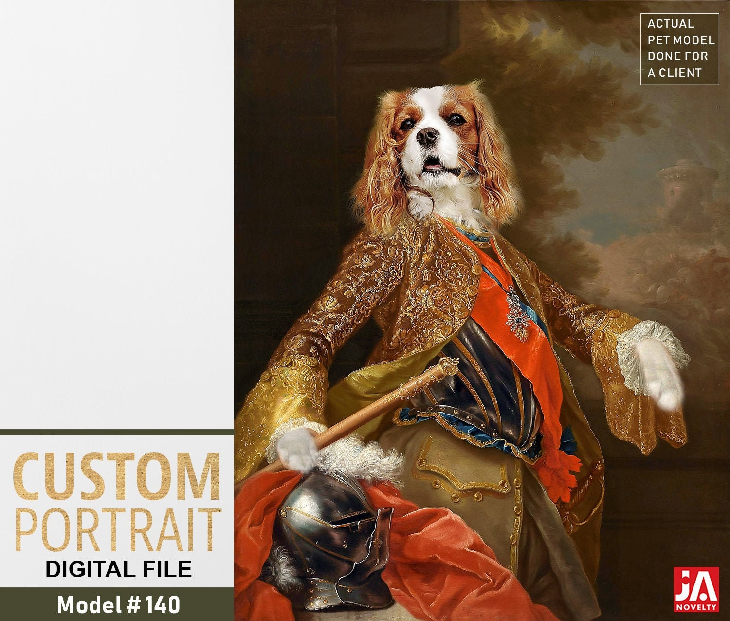 foto de Your dog as King Charles III of Spain Personalized painting from ...