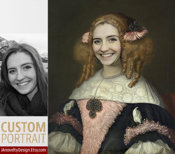 Lady girl, Gift for woman friend, Funny gift, Classical paint, Renaissance portrait, Medieval portraits, Victorian portraits by JAnovelty