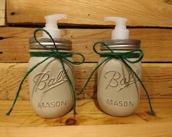 Mason Jar Soap & Lotion Bathroom Set