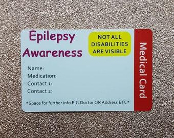 Awareness Medical Personalised ID Card Disability Foetal Alcohol Spectrum FASD