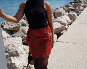 Mini skirt in afroprint