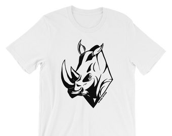 High Contrast Rhino Graphic T-Shirt