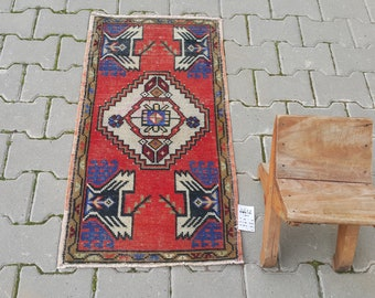 Anatolian rug cotton rug Anatolia vintage runner 20x45 Inch carpet 3707 turkish small rug oushak rug 1/'6/'/' x 3/'8/'/' feet