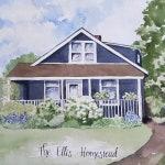 11 x 14 Custom Home Portrait, Hand Painted Watercolor Art, Original Painting, House Portrait//Housewarming Gift, Realtor Gift,
