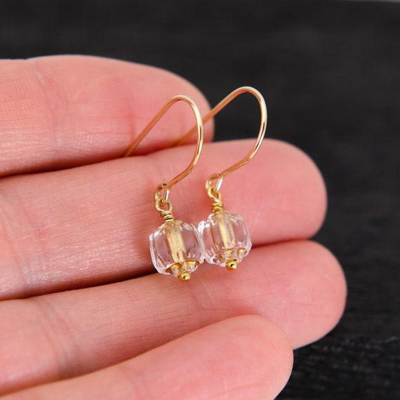0.67 14k Gold Plated Tone CZ Small Huggie Hoop Earrings For Women Teen Girls jewelry