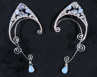 Ice Pixie Wire Wrapped Elf Ear Cuffs (Pair)