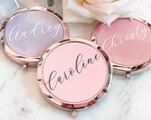 Holiday Gifts for Women - Christmas Gift Ideas for Her Personalized Gifts for Women Custom Mirror Compact Birthday Gifts for Her (EB3166AD) photo