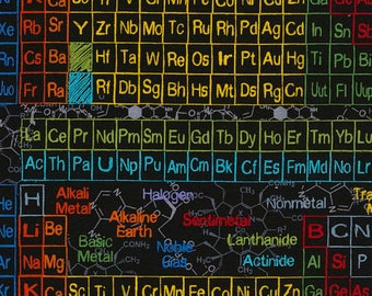 Periodic table quilt etsy science periodic table fabric science fabric by the metre timeless treasures chemistry fabric scientist btm fabricdesig treasures urtaz Gallery