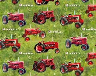 Tractor de vida de pueblo tractores Tela 100/% Algodón Fat Quarters MAKOWER 2296