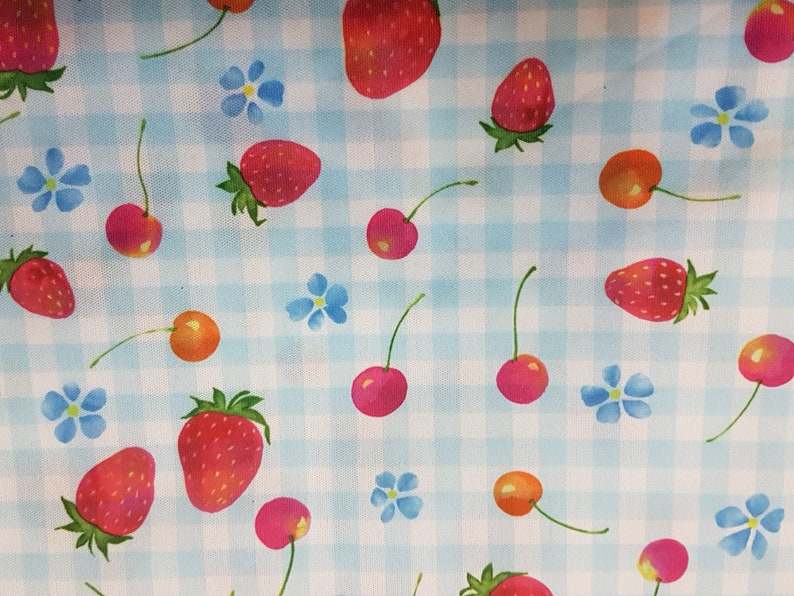 Food Safe Laminated fabric Diaper Waterproof Laminate fabric PUL -  Strawberry & Cherry Toss - By The Metre
