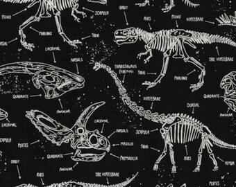 Glow In The Dark Dinosaur Skeletons by Timeless Treasures