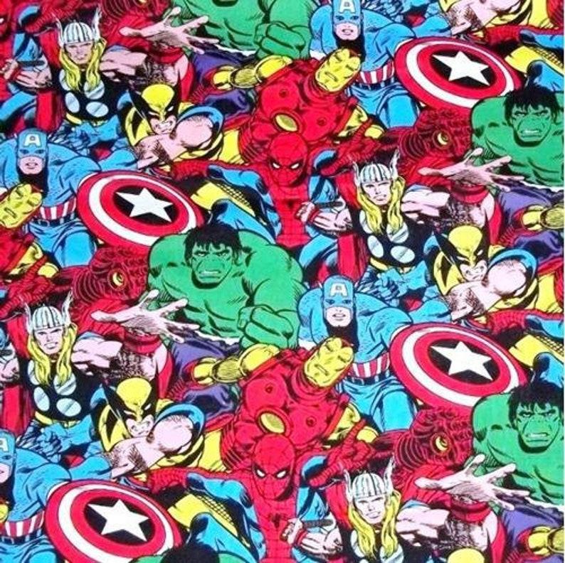Camelot  Marvel Comics III Superheroes  Character Heads  Premium licensed Cotton
