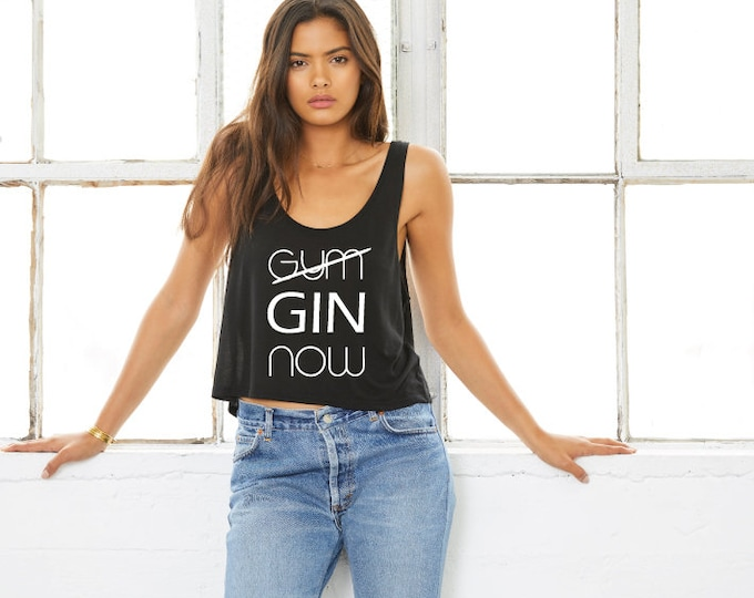 Featured listing image: Gin Now - Cropped Gym Tank Top - Black