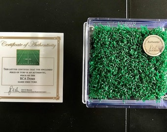 Indianapolis Colts Game Used Turf RCA Dome- Peyton Manning Rookie Season- NFL  Best Indianapolis Colts Gift Ever!