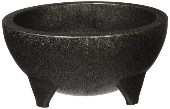 Sauce Cup Snack Great for any event. Black Plastic Mexican Molcajete Chips Guacamole Serving Dish 6 Side dish Dip Chips Salsa Bowls Nuts or Candy