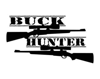 buck hunter vinyl decal