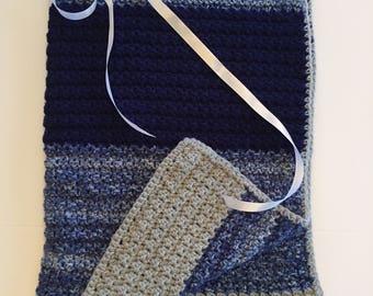 Blue Jean Blanket Throw