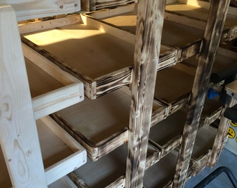 storage shelves/shelving unit/wooden shelves/storage rack/display shelves/shelf rack/open shelving unit/display rack/toy rack
