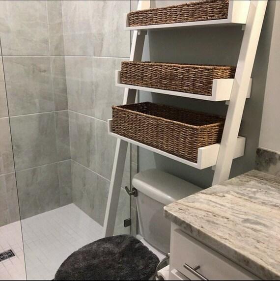 Ladder Shelf Bathroom Storage Towel Rack Bathroom Shelves Etsy