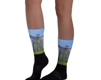 Camp Hero Radar Tower Socks