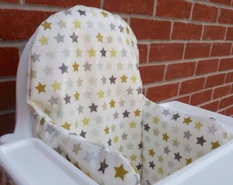 Stars in Mustard Oilcloth cover for KLÄMMIG inflatable cushion