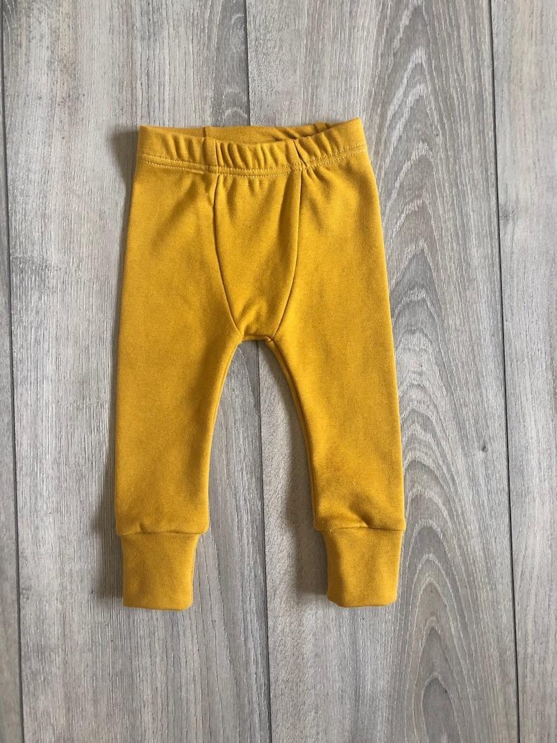 Toddler Leggings Baby Leggings Fall Kids Style Mustard Lounge Leggings Unisex Kids Clothes