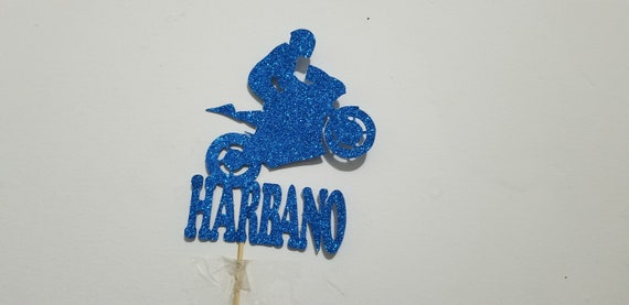 Personalised Acrylic Speedway Motorcycle Motorsports Birthday Cake Topper