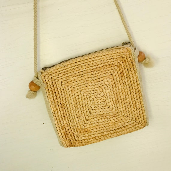 Midcentury Straw Bag