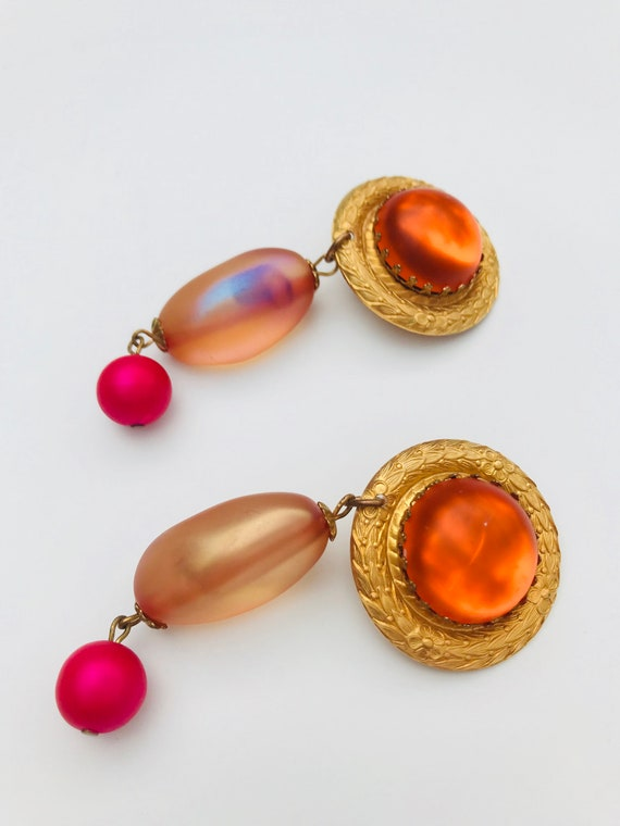 Vintage Dangle Earrings, Drop Earrings, Runway Ear