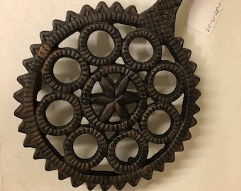 Vintage Cast Iron Hex Trivet