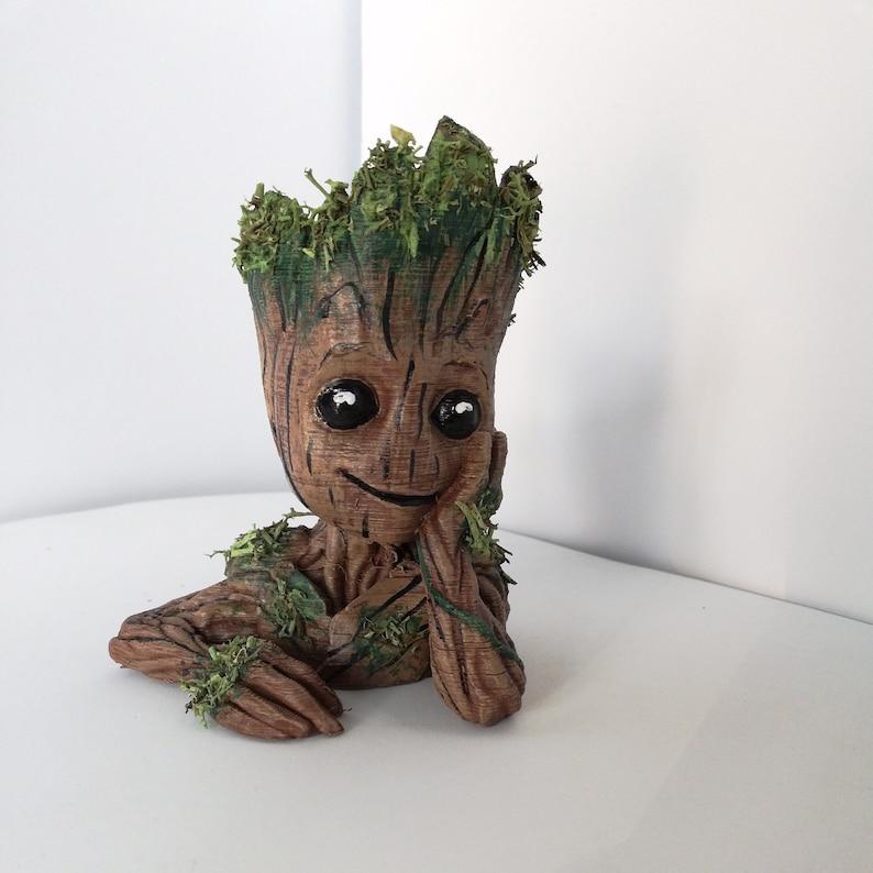 5df9d07f1 Baby Groot Planter Flower Pot guardians of galaxy Fan Art | Etsy