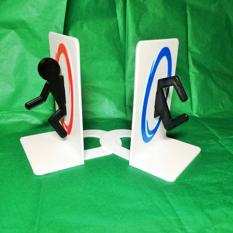 Portal Bookends For Your Geeky Friend