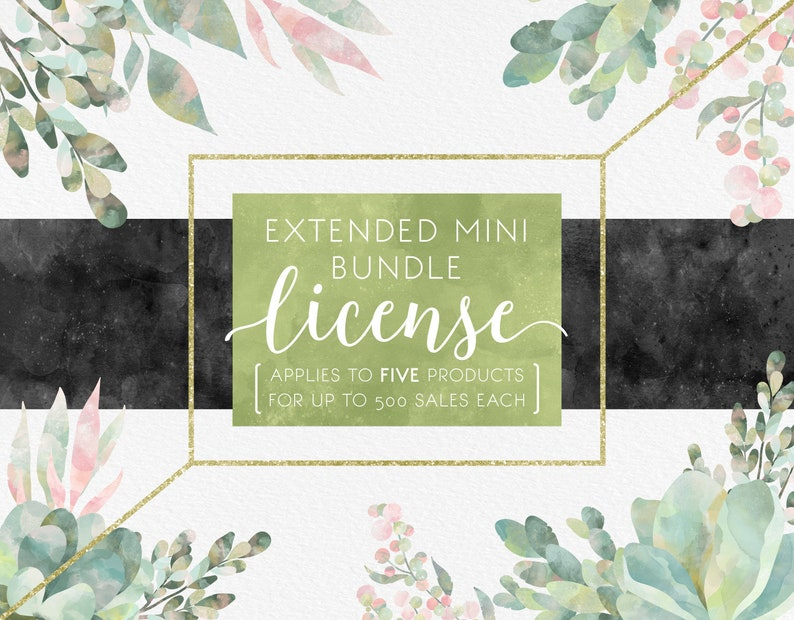 Extended Mini License Bundle for Limited Commercial Use For 5 Products and up to 500 Sales each