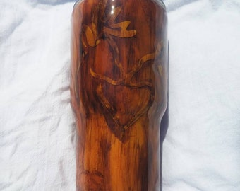 Doe woodgrain tumbler for her, deer, woodsy, woodland, gifts for mom, mothers day