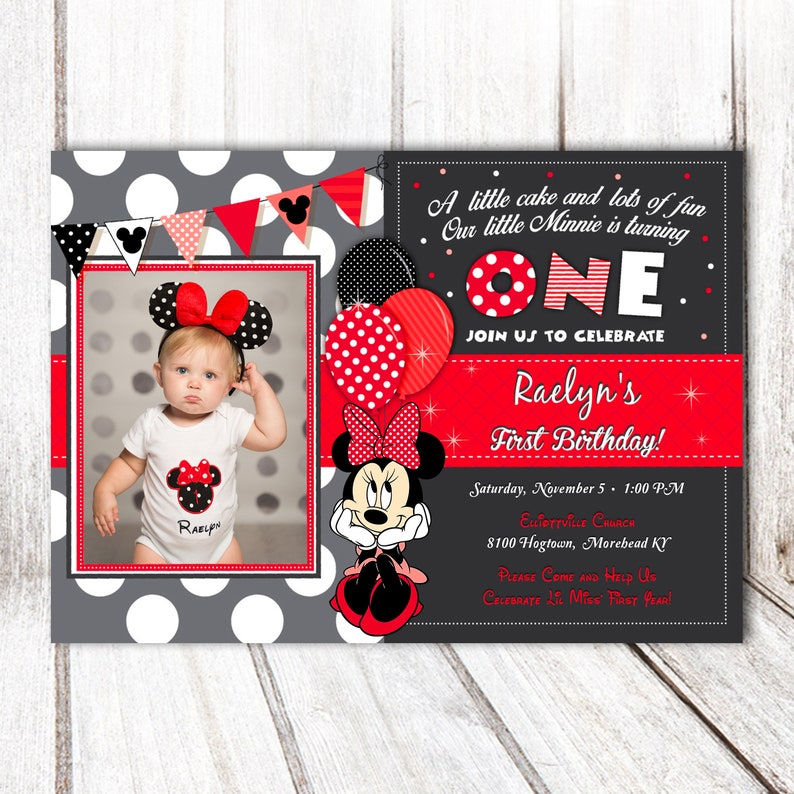 Minnie Mouse Birthday Invitation image 0