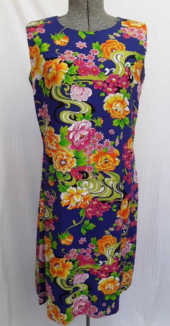Flowered dress by Marjorie Hamilton