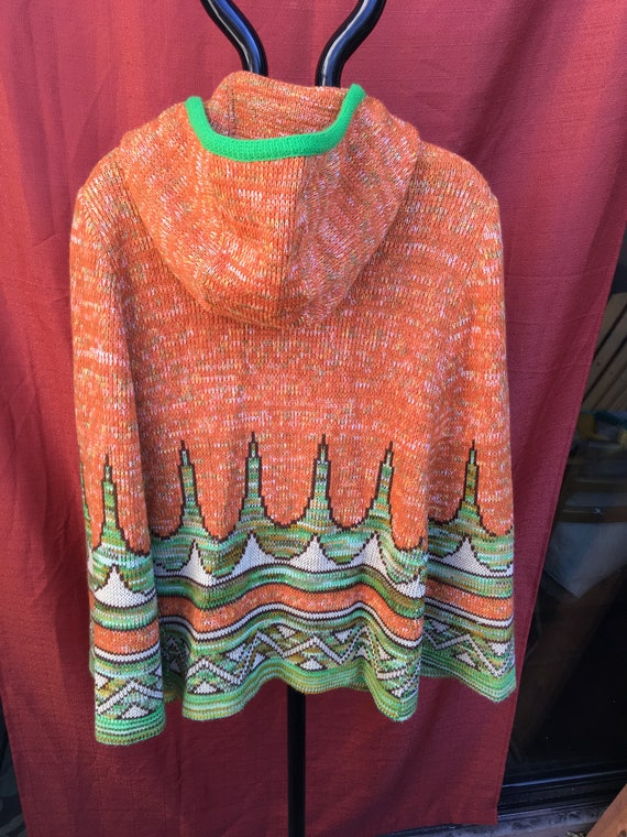 Vintage cape : 1970's tunic with hood